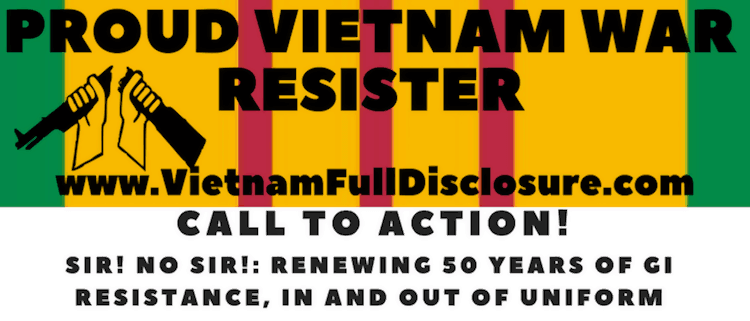 Call to Action! Sir! No Sir!: Renewing 50 Years of Resistance, In and Out of Uniform