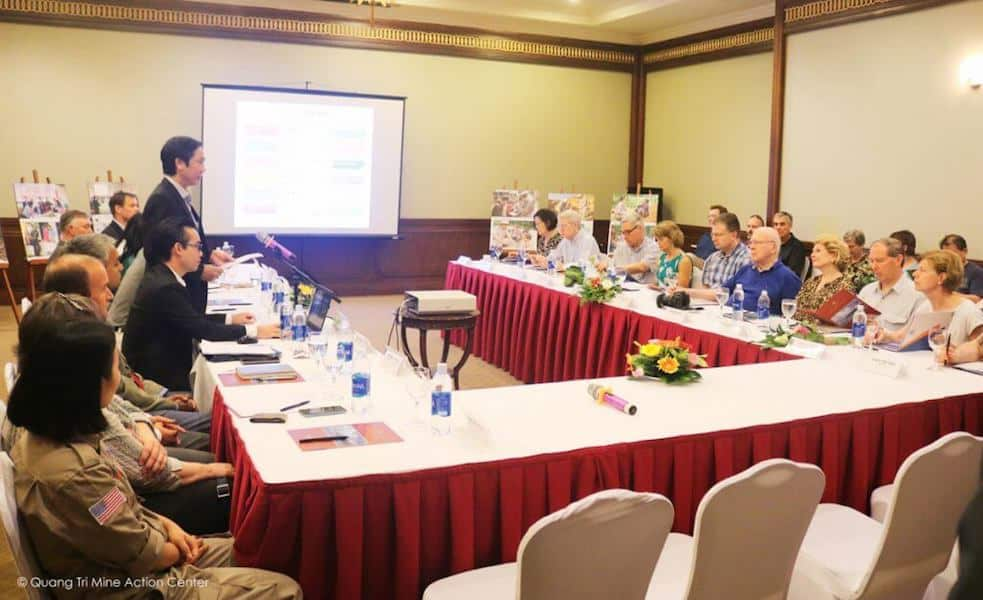 Project RENEW joins with Quang Tri Province authorities and other mine action organizations in meeting with U.S. Senators on explosive remnants of war