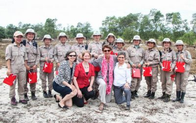 Ambassadors visit RENEW-NPA's all-female clearance team