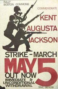 May 5th student strike poster
