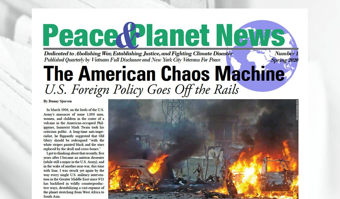 Peace & Planet News Issue #1, Spring 2020, now online