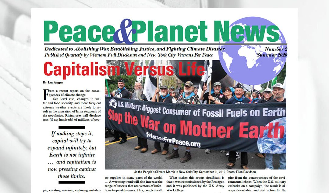 Peace & Planet News Issue #2, Summer 2020, now online