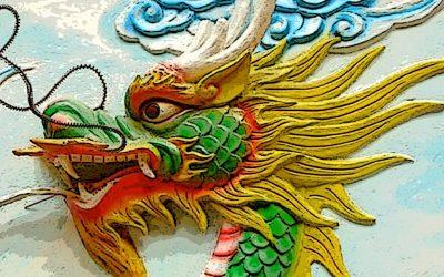 """""""Quan Âm on a Dragon"""" by Teresa Mei Chuc"""