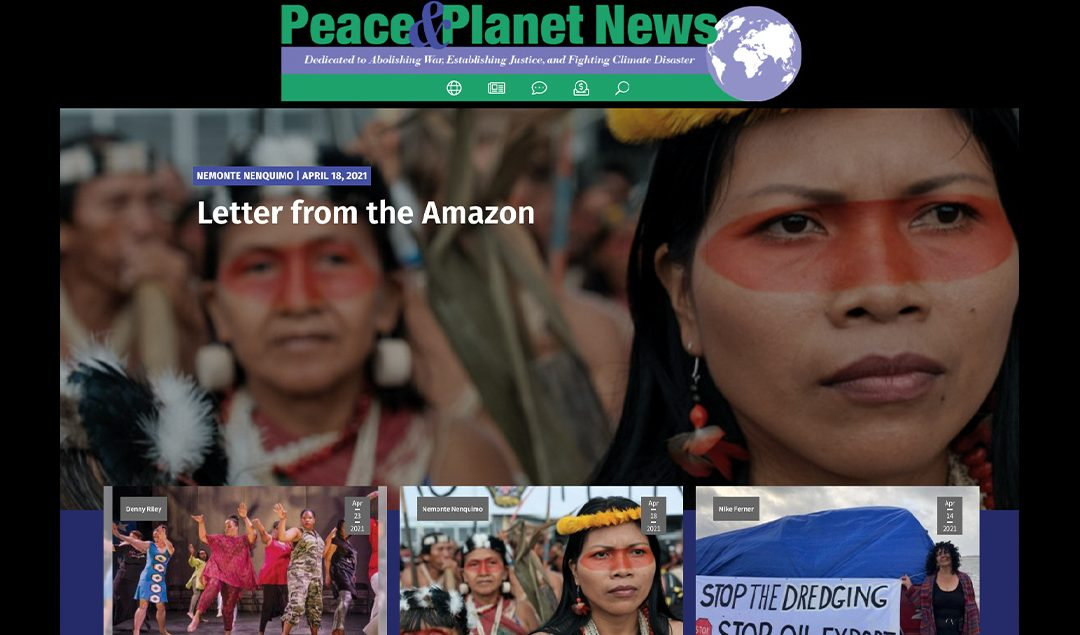 Peace and Planet News launches beautiful new online hub